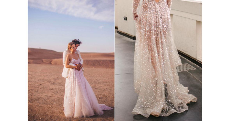 Блестящее платье — яркая идея для летней
