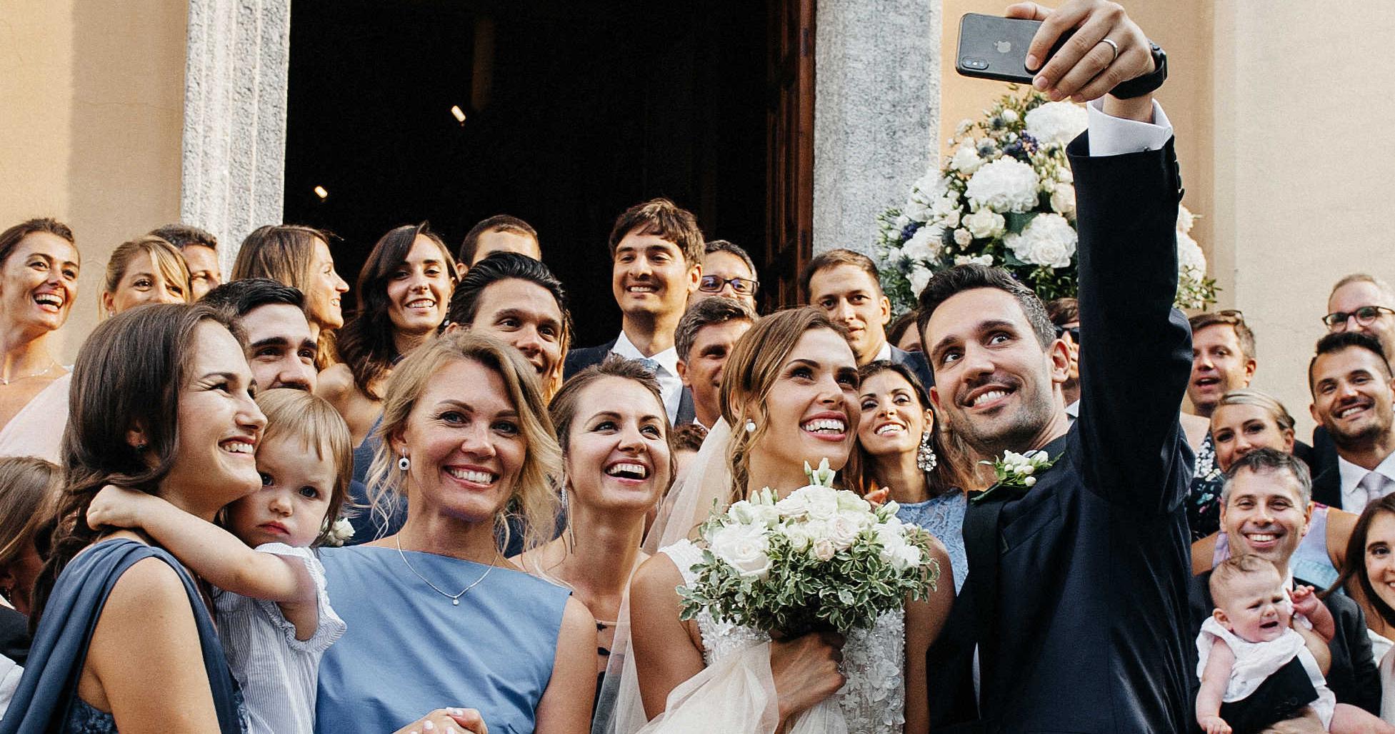 Элегантная свадебная вечеринка в Италии