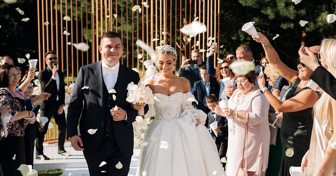 Невеста Алина в платье с трехметровым шлейфом