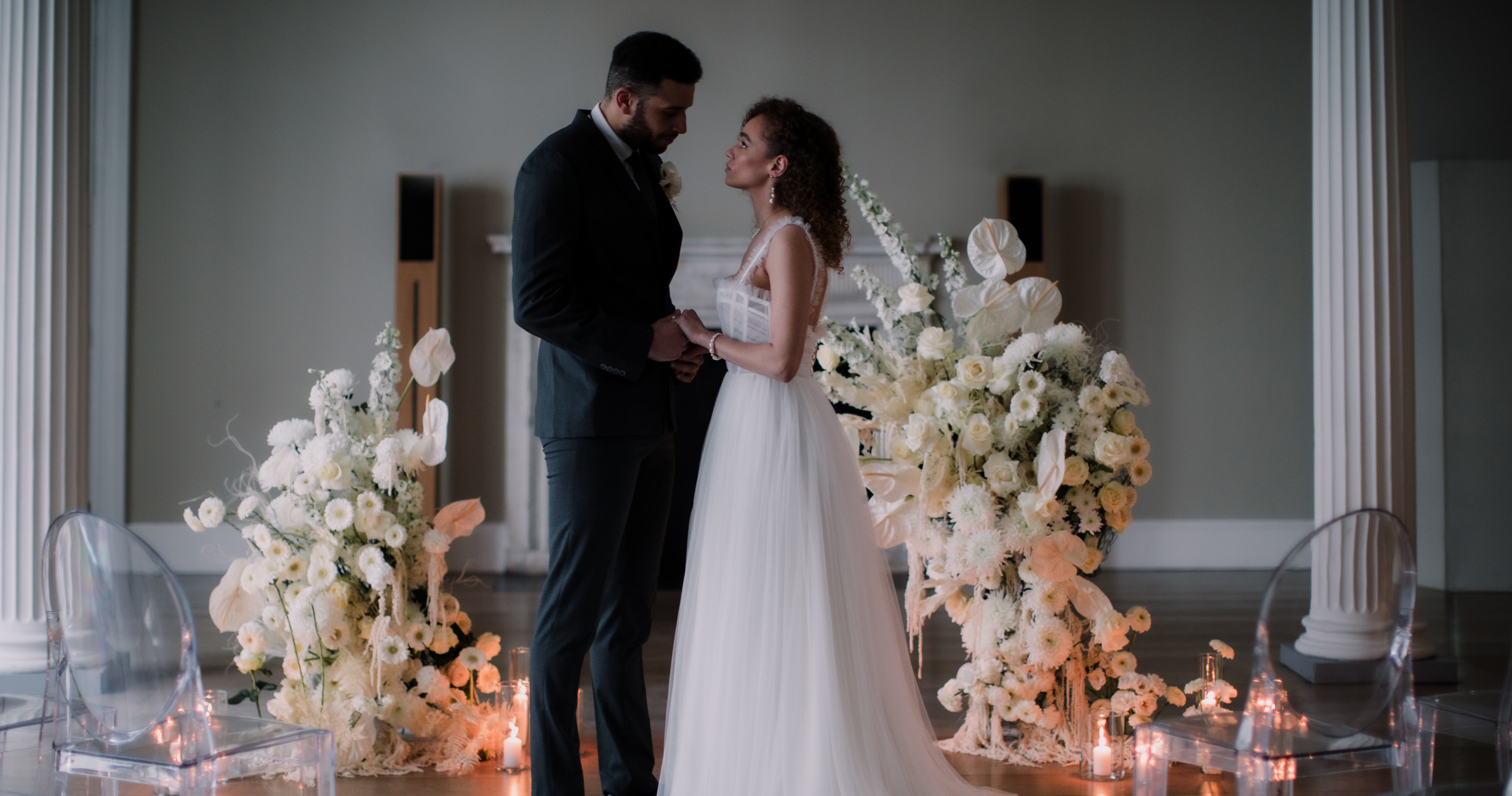 Wedding with flowers by Blooming Haus