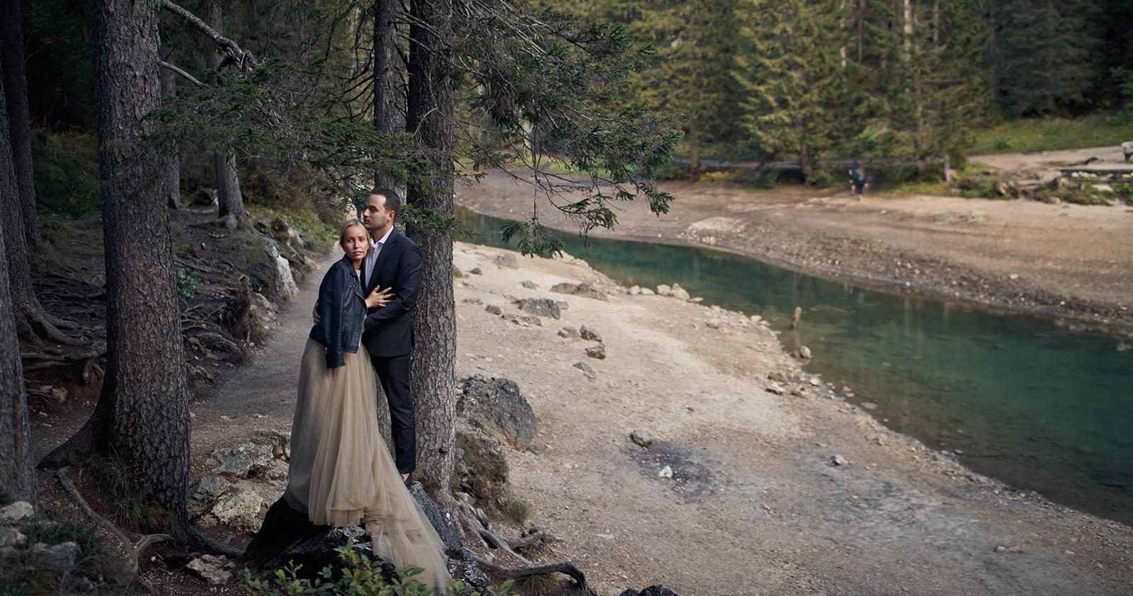 Свадьба на озере Брайес с церемонией в