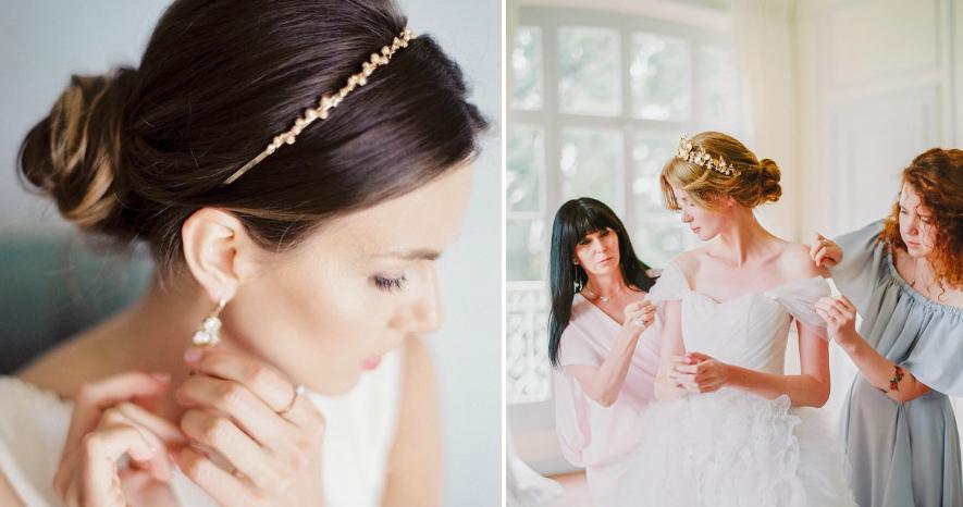 Ободок для волос — модный свадебный аксессуар