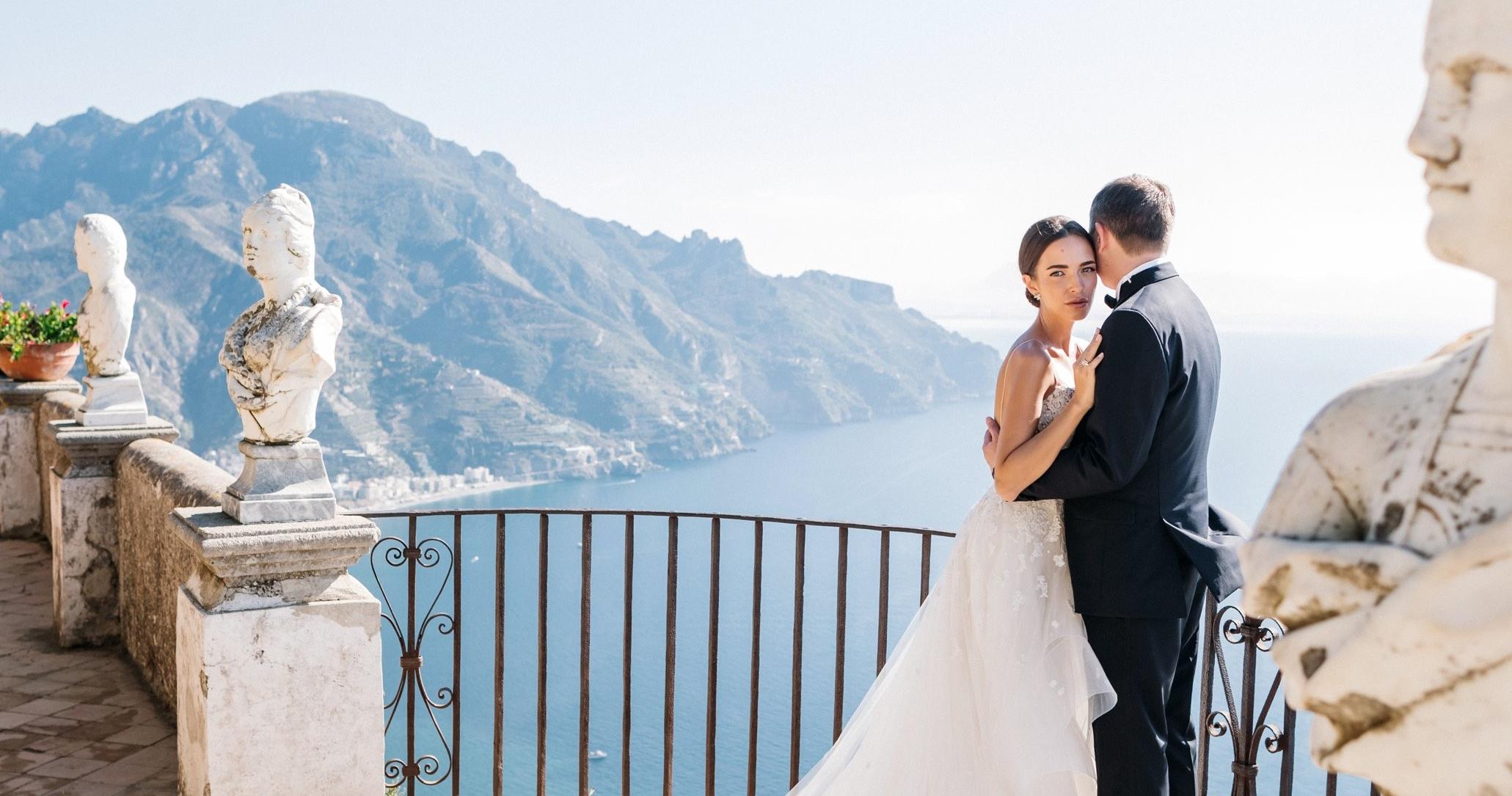 Белоснежная свадьба на побережье Амальфи