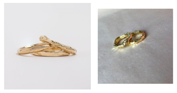 Rough Gold Wedding Rings — A Choice