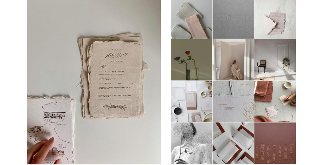 6 instagram accounts with wedding invitations every