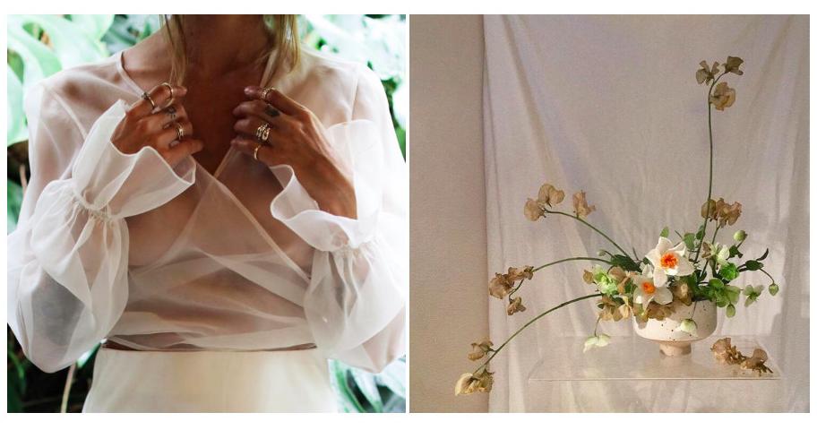 Платье с прозрачными рукавами — легкий вариант