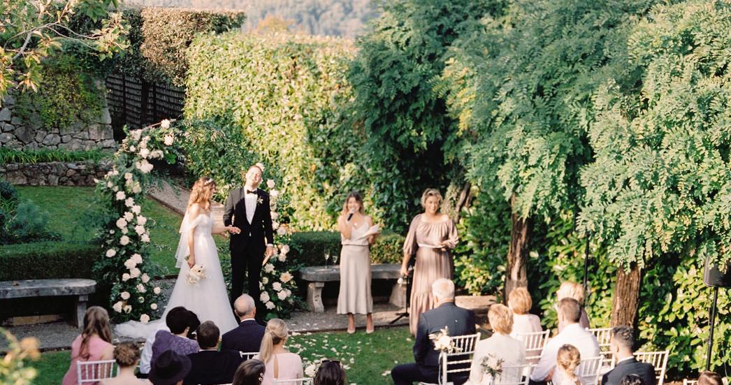 Солнечная свадьба среди итальянских гор