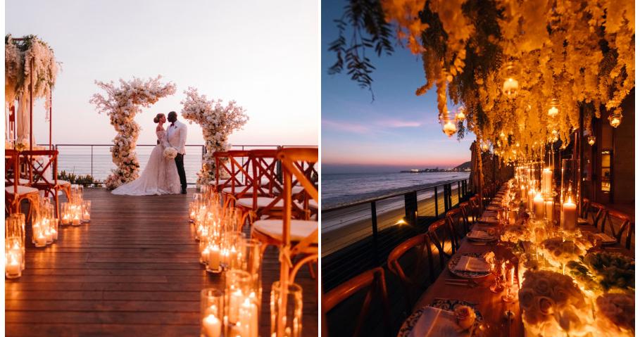 Свадебная церемония вечером — идея для романтиков