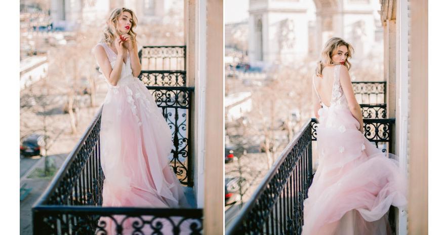 Свадебные платья: 10 нежно-розовых вариантов
