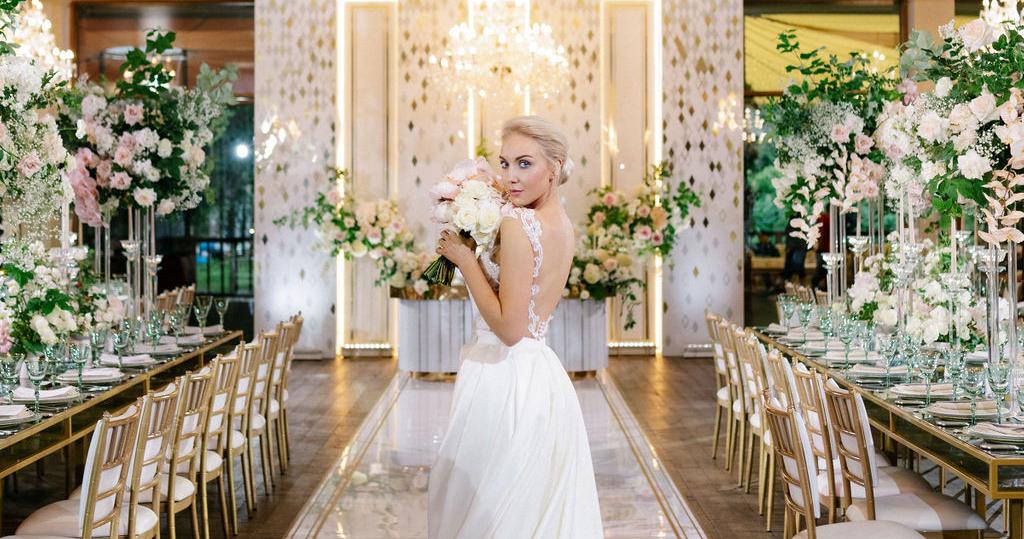 Романтичная свадьба в ресторане «Подмосковные вечера»