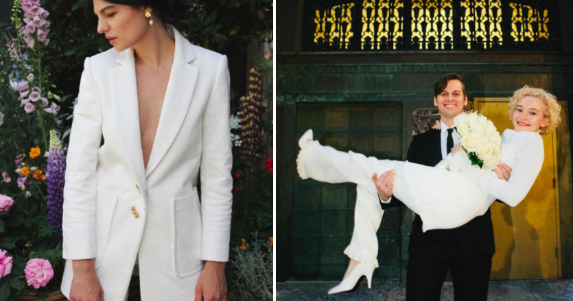 White bridal jackets — you can wear