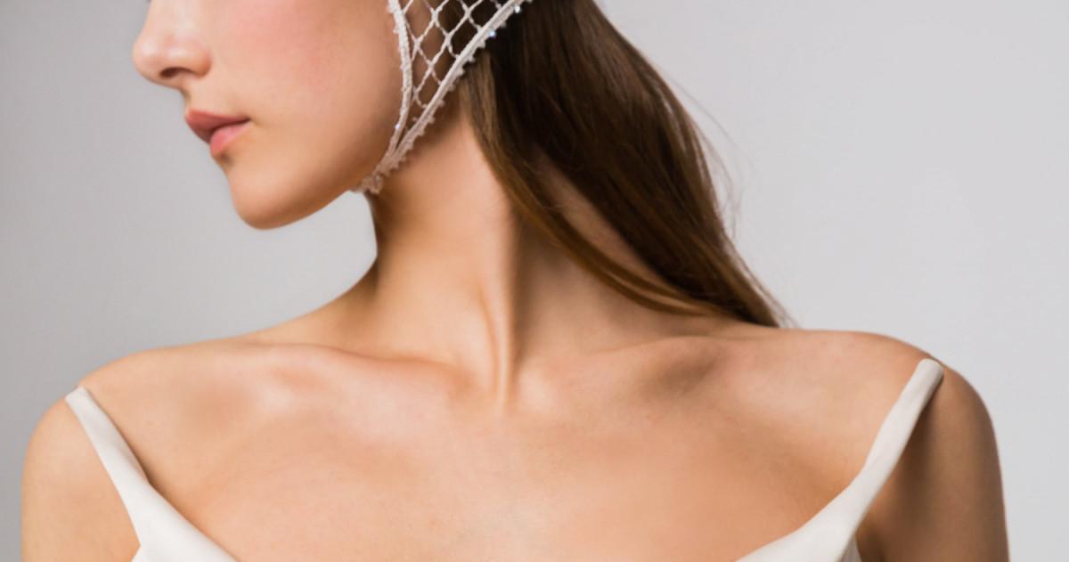 Геометрия как тренд сезона в свадебных платьях