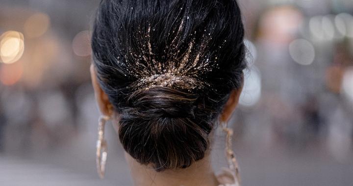 Золото в волосах — новый свадебный тренд