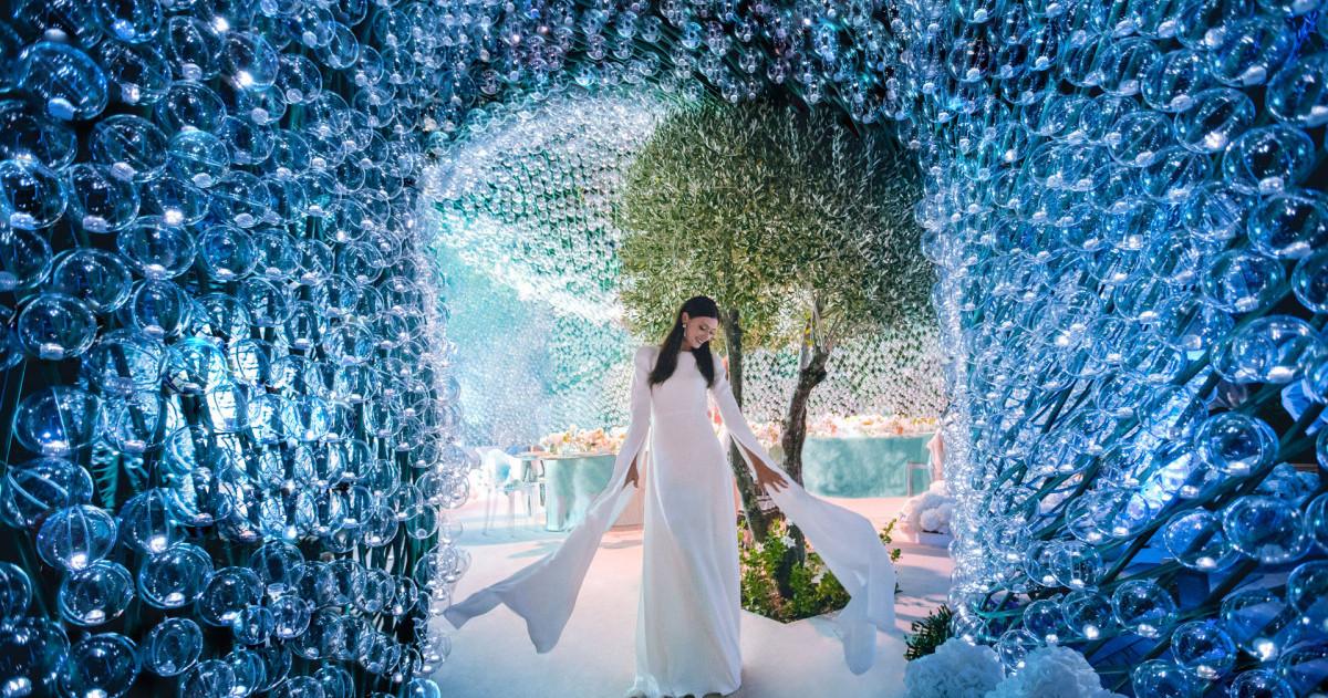 Свадьба в лазурных оттенках, прошедшая во Франции