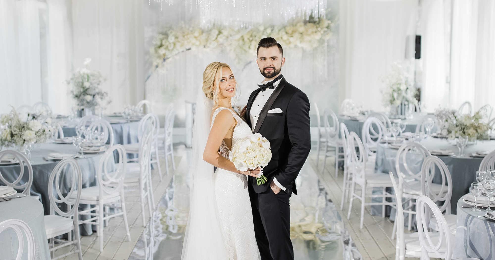 Белоснежная свадьба с хрусталем