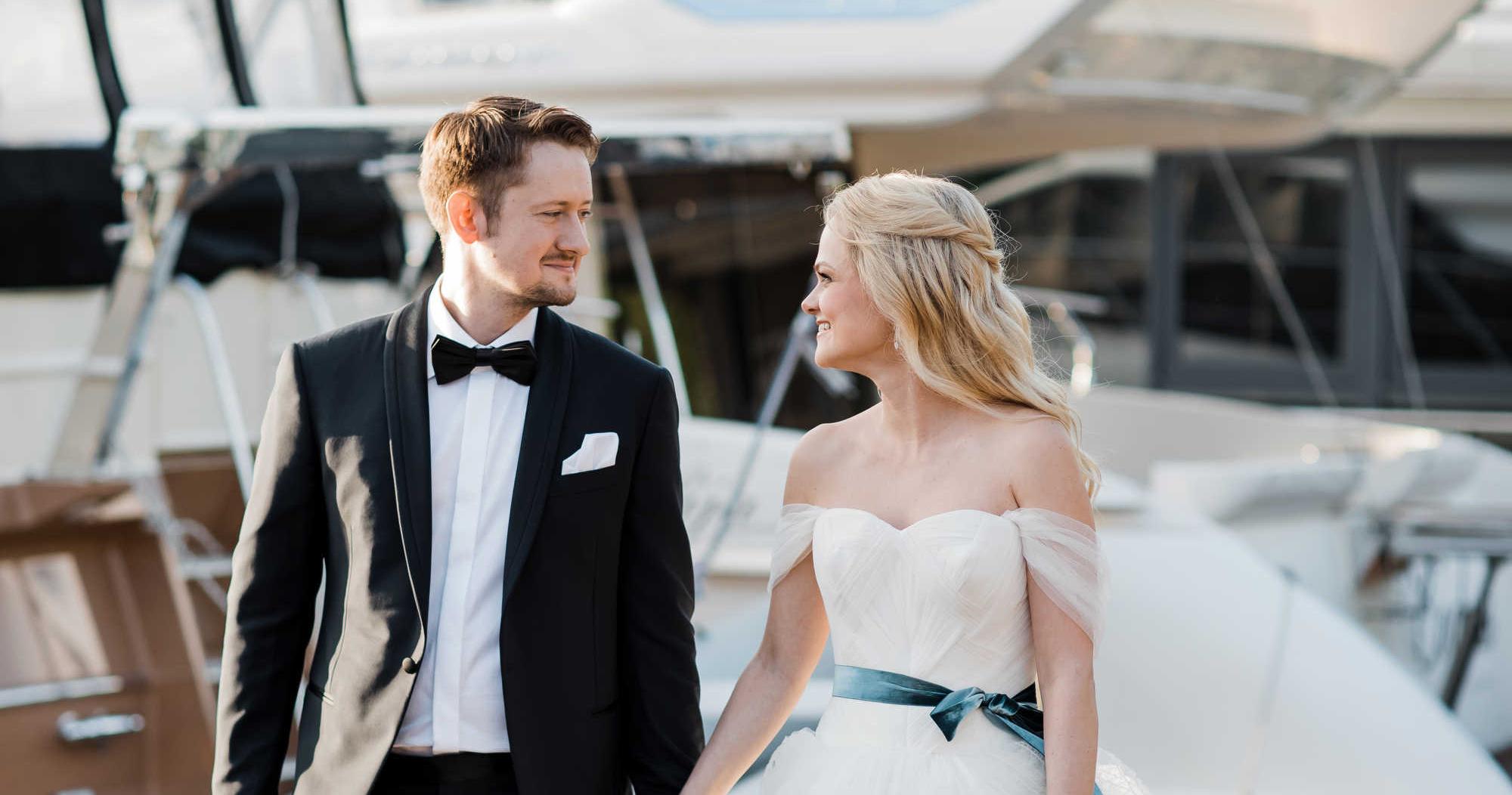 Нежная свадьба в загородном яхт-клубе