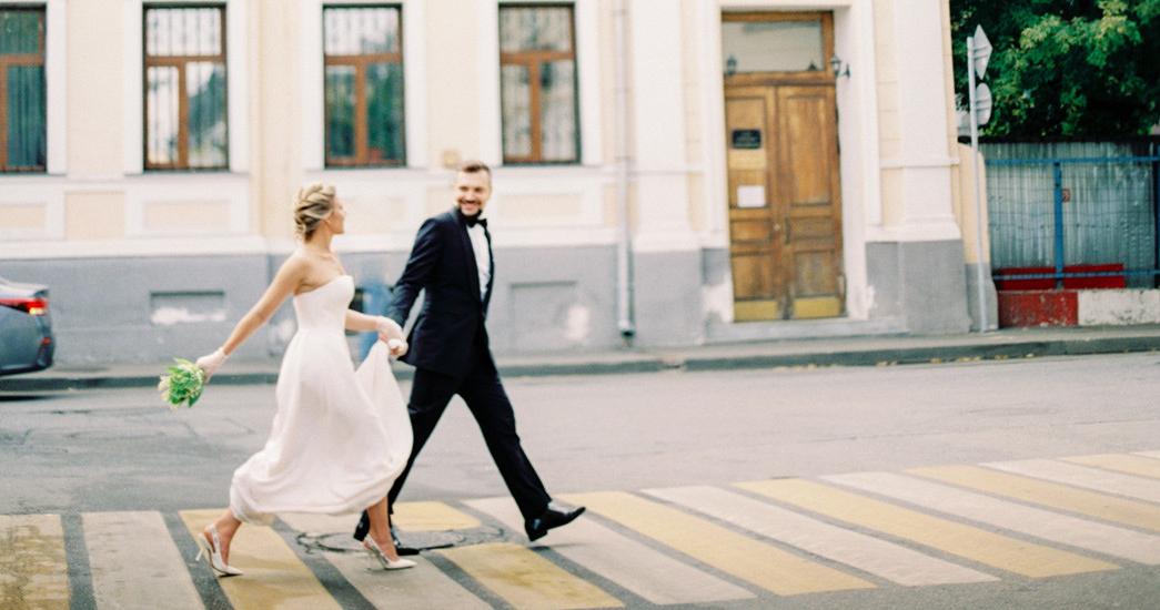 Романтичная московская свадьба