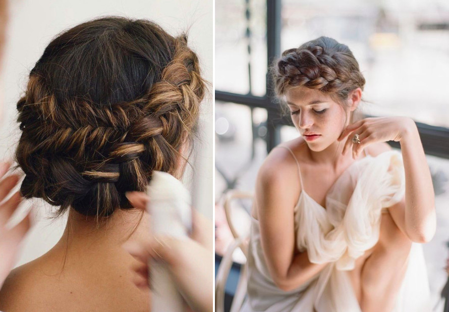 Wedding braided hairstyles for romantic natures