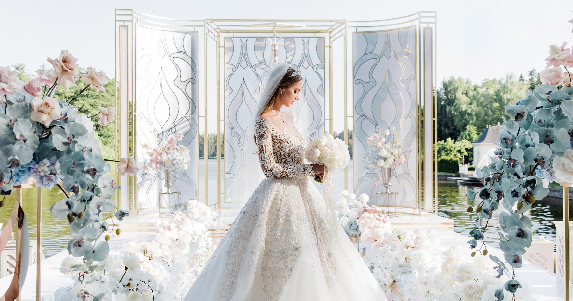 Свадьба в нежно-голубых оттенках