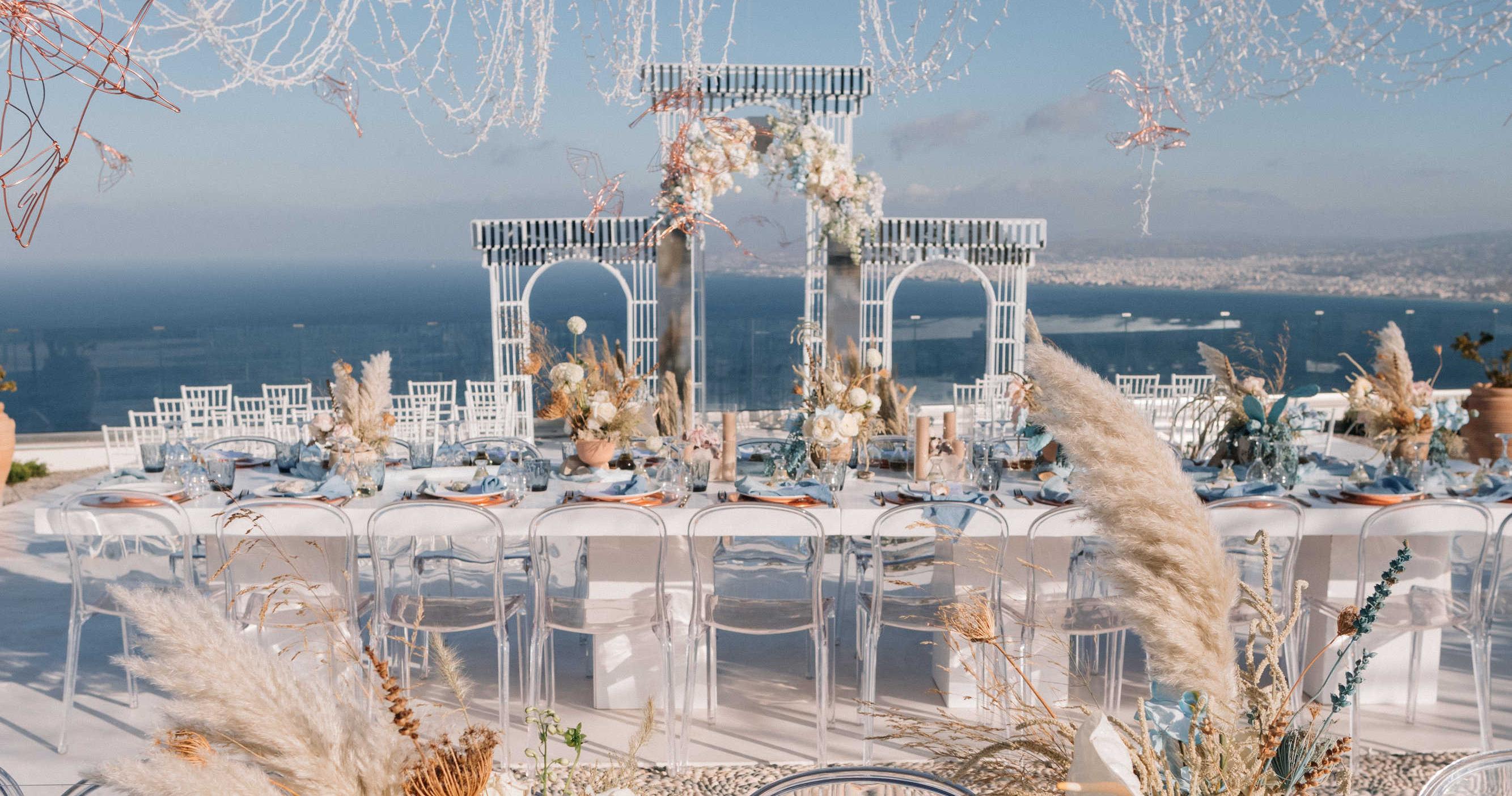 Свадьба на белоснежной вилле в Греции