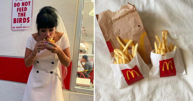 Wedding and McDonald's — what we love