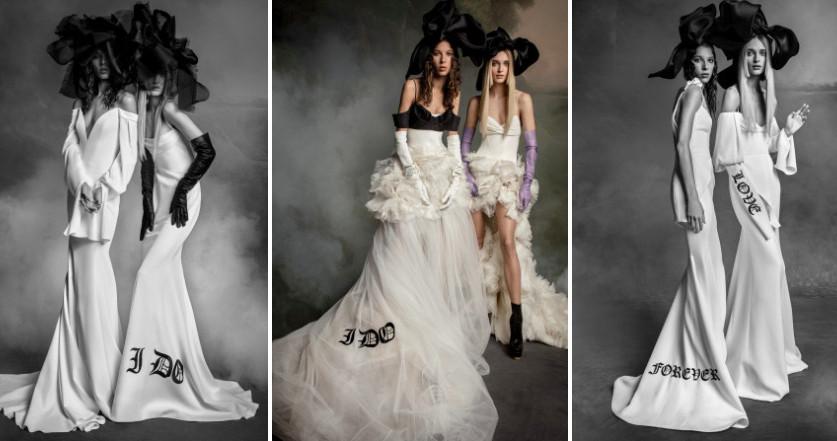 Свадебные платья с надписями – тренд 2020