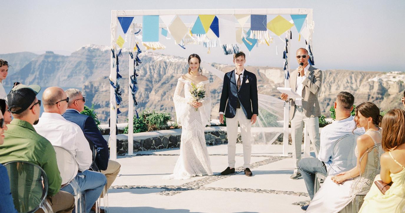 Свадебный уикэнд на острове Санторини