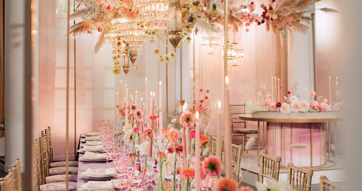 Свадьба с сухоцветами и декором в оттенке