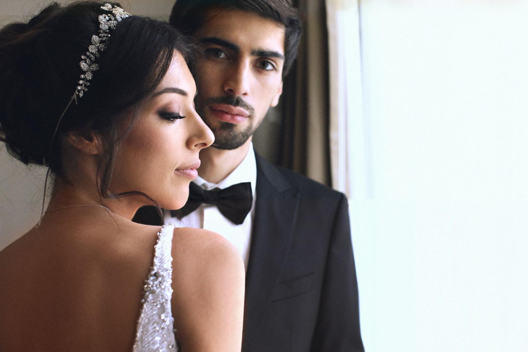 Свадьба Давида и Этери в оттенках бордо