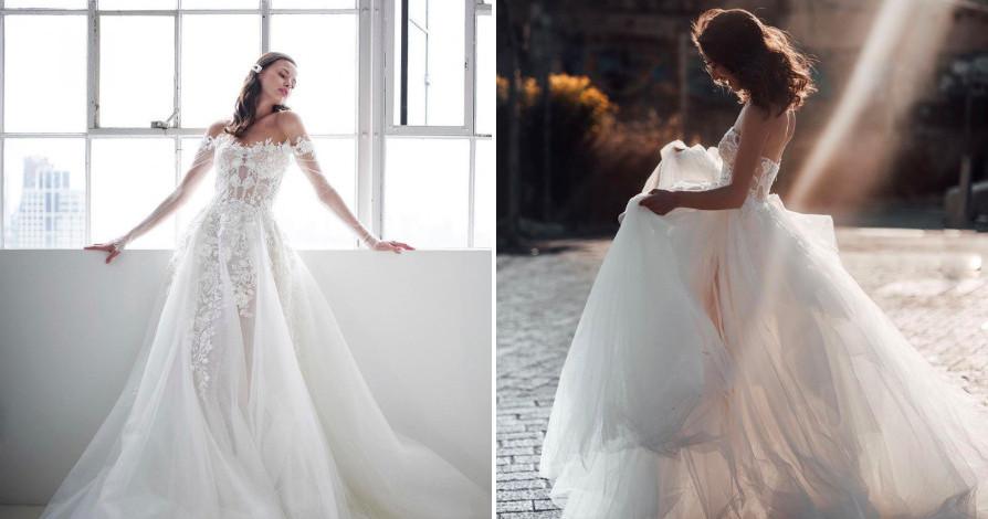 Свадебные платья: 5 пышных моделей для современных