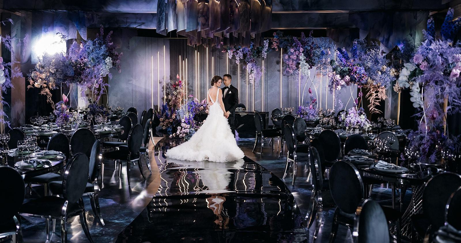 «Стихия любви» — эффектная свадьба в темных
