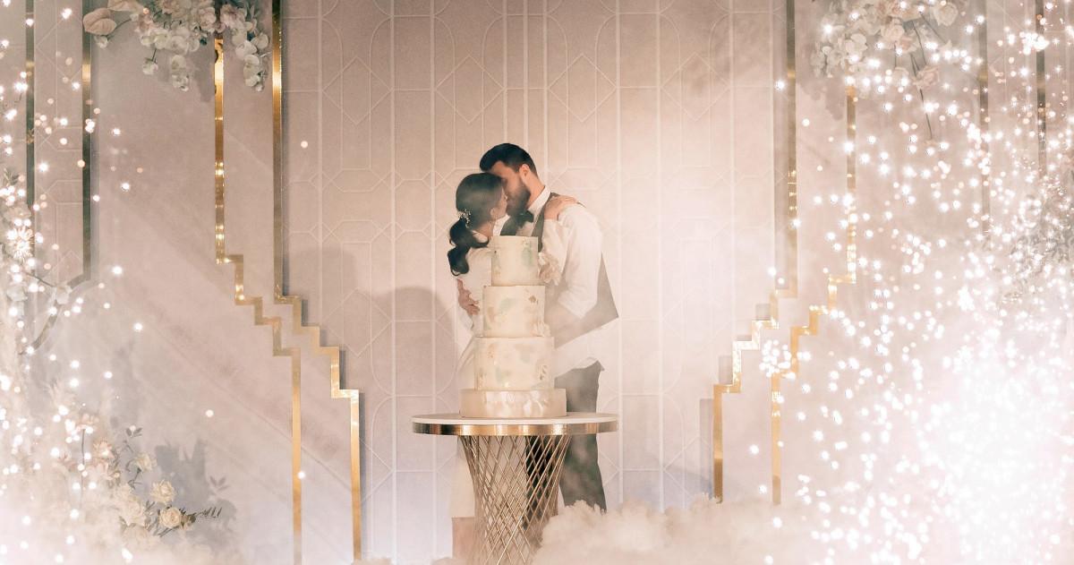 Свадьба Яны и Сергея в оттенках розового