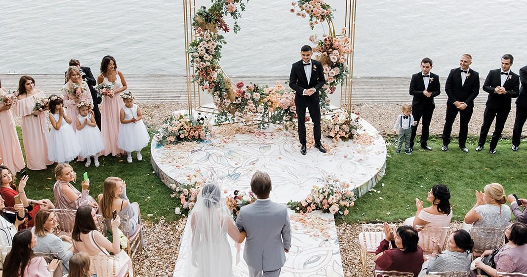 Свадьба Лады и Тимура на озере Сенеж