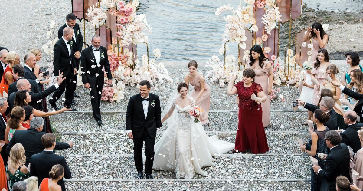 Элегантная свадьба на озере Комо
