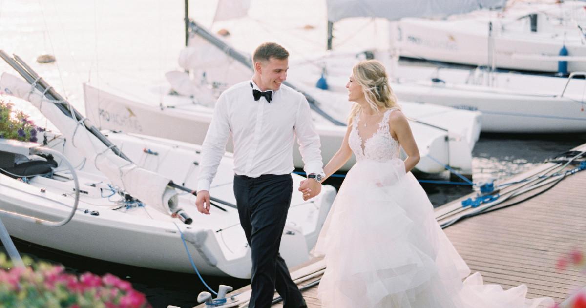 Классическая свадьба Ольги и Николая в нежно-розовых